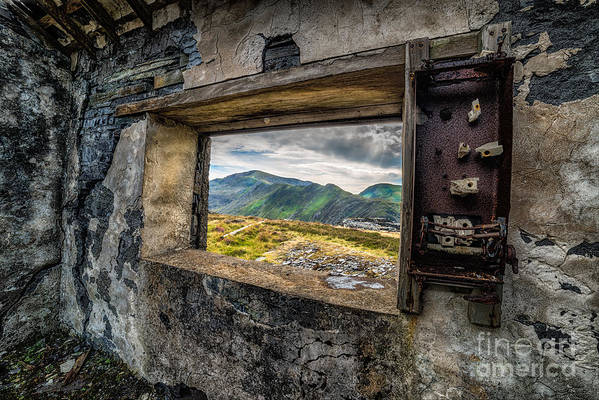 Abandoned Poster featuring the photograph Ruin With A View by Adrian Evans