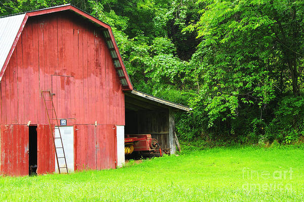 West Virginia Poster featuring the photograph West Virginia Barn And Baler by Thomas R Fletcher
