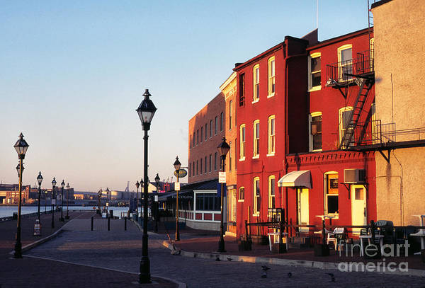 Early Morning Poster featuring the photograph Historic Fells Point by Thomas R Fletcher