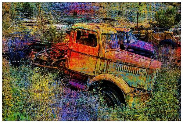 Abstract Poster featuring the photograph Liberty Truck Abstract by Robert Jensen