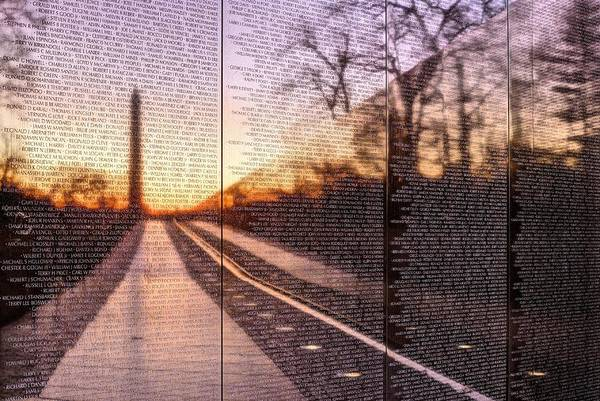 Vietnam Wall Poster featuring the photograph The Wall by JC Findley