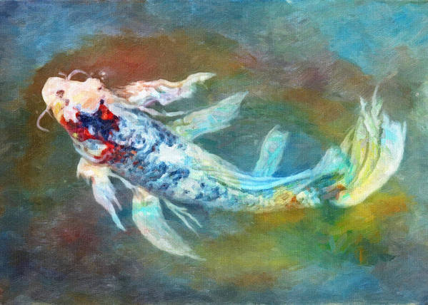 Fish Poster featuring the photograph Koi Fantasy by Robert Jensen