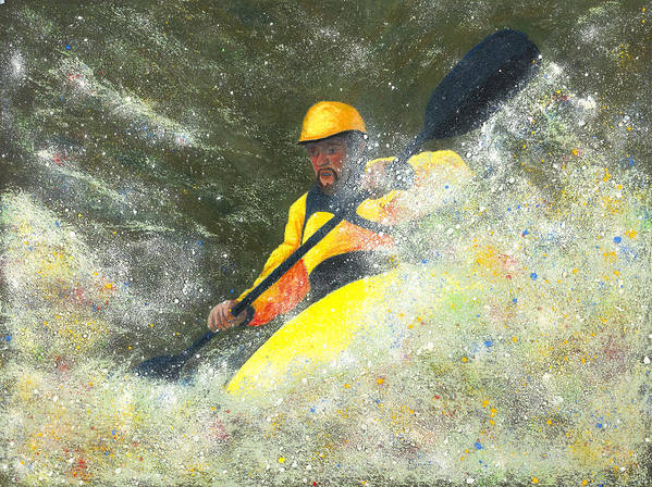 River Runner Poster featuring the painting River Runner by Garry McMichael
