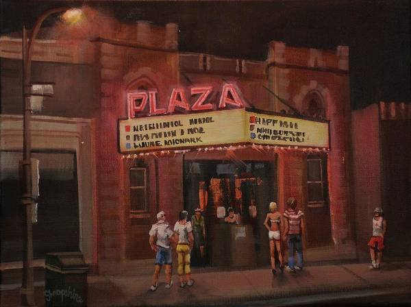 Burlington Poster featuring the painting The Plaza by Tom Shropshire