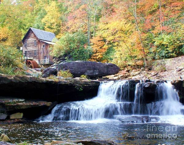 Grist Mill Poster featuring the photograph Glade Creek Grist Mill by Laurinda Bowling