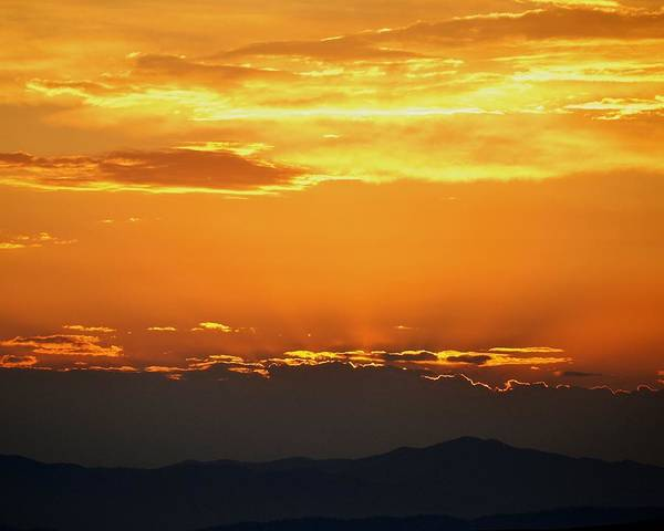 Sunset Poster featuring the photograph Golden Evening by Kevin Bone