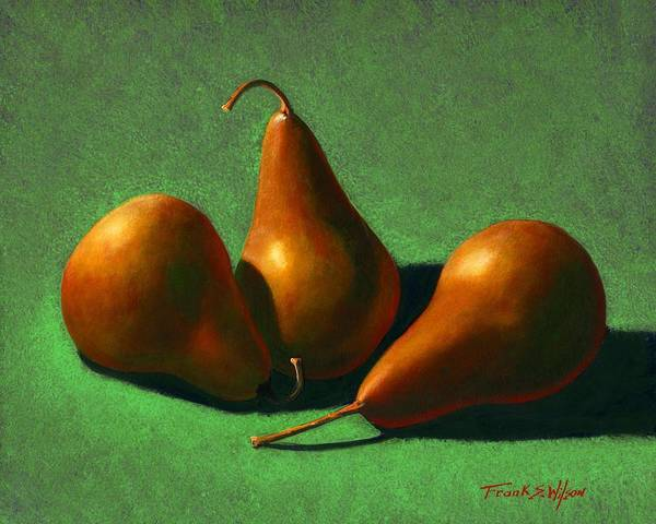 Still Life Poster featuring the painting Pears by Frank Wilson