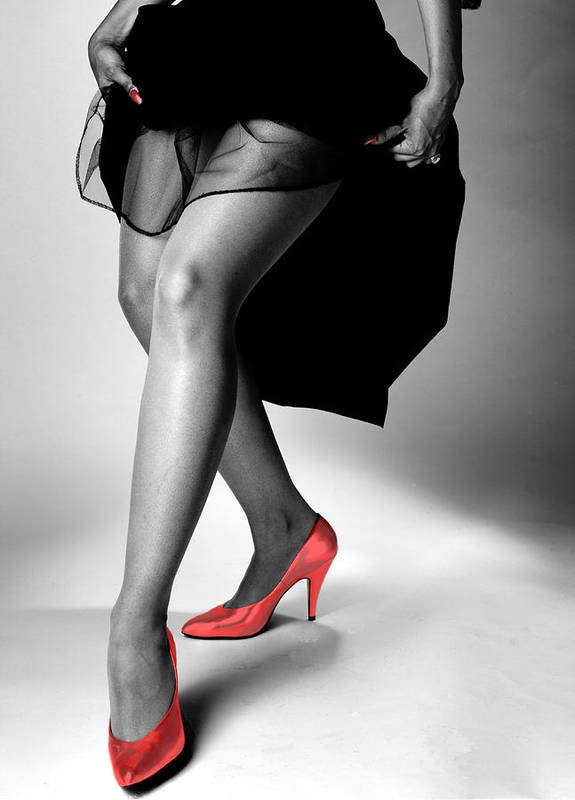 Figure Poster featuring the photograph Red Shoes by Jerry Taliaferro