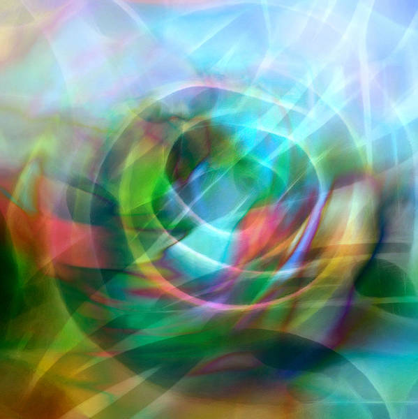 Abstract Poster featuring the digital art Crystal Nature by Ann Croon