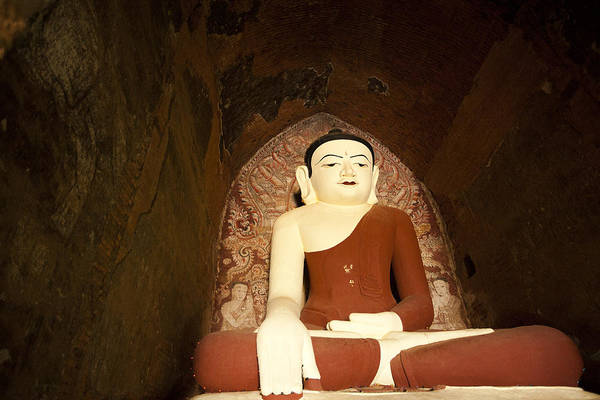 Asia Poster featuring the photograph Buddha Statue In Dhammayangyi Paya Temple by Ruben Vicente