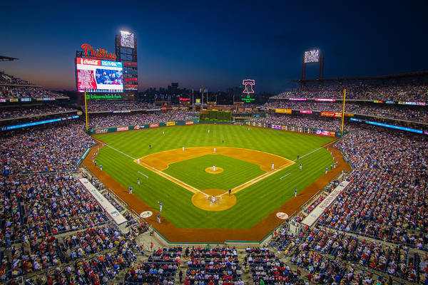 Citizens Bank Park Poster featuring the photograph Citizens Bank Park Philadelphia Phillies by Aaron Couture