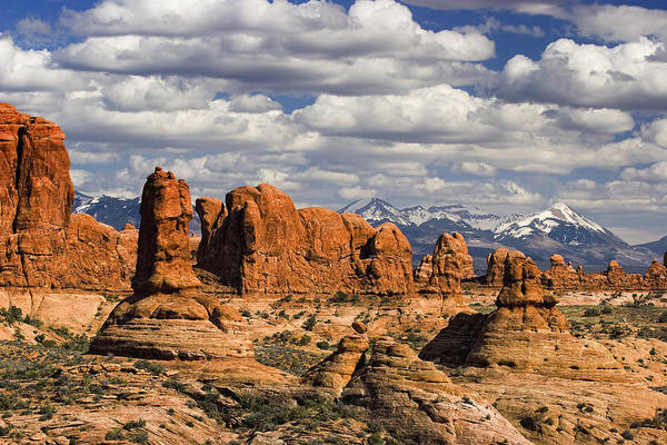 Arches Poster featuring the photograph Garden Of Eden And La Sal Mountains by Utah Images