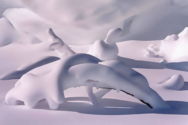 Abstract Poster featuring the photograph Snow Drift Fantasy by Terril Heilman