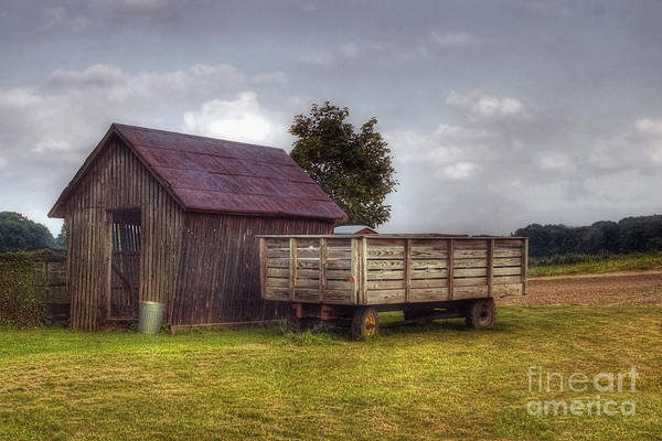 Shed Poster featuring the photograph Awaiting Autumn by Joann Vitali
