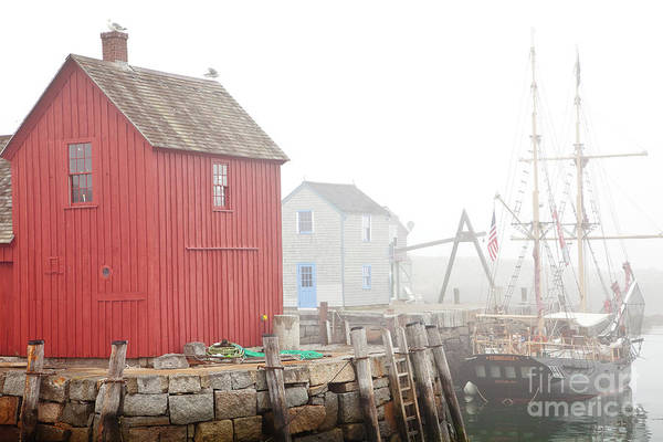 Boat Poster featuring the photograph Rockport Fog by Susan Cole Kelly
