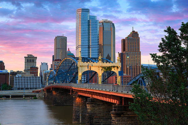 Pittsburgh Skyline Poster featuring the photograph Smithfield Street Bridge by Emmanuel Panagiotakis