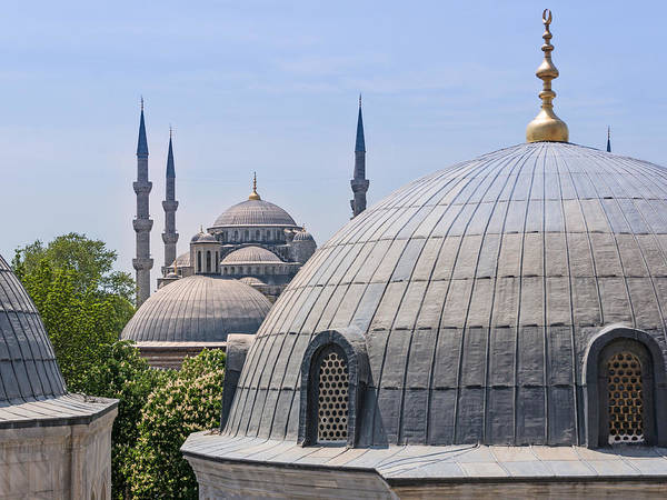 Istanbul Poster featuring the photograph Domes Of Istanbul by Lutz Baar