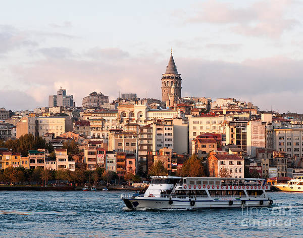 Istanbul Poster featuring the photograph Galata Skyline 03 by Rick Piper Photography