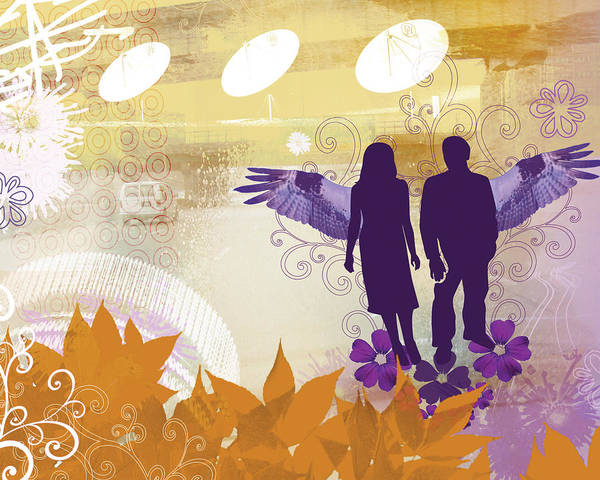 Bahai Poster featuring the mixed media Two Wings by Misha Maynerick