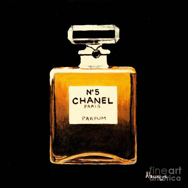 Chanel Poster featuring the painting Chanel No. 5 by Alacoque Doyle