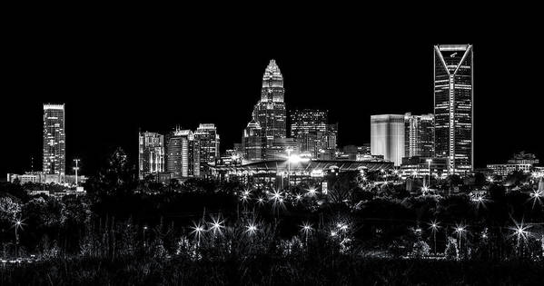 Charlotte Poster featuring the photograph Charlotte Night by Chris Austin