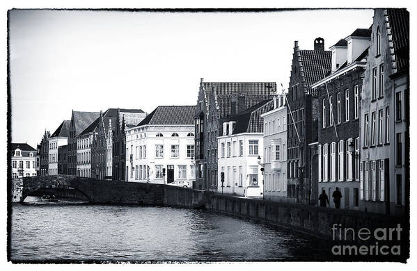 Bruges Canal Scene Poster featuring the photograph Bruges Canal Scene Ix by John Rizzuto