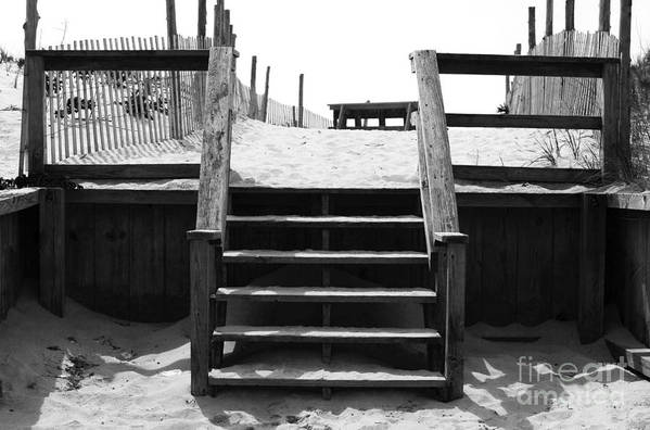 Stairway To Lbi Heaven Poster featuring the photograph Stairway To Lbi Heaven by John Rizzuto
