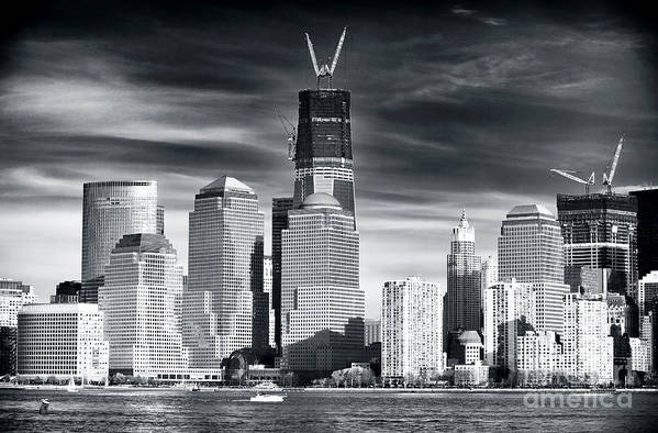 World Trade Center Rebirth Poster featuring the photograph World Trade Center Rebirth by John Rizzuto