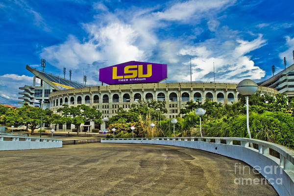 Lsu Poster featuring the photograph Death Valley by Scott Pellegrin