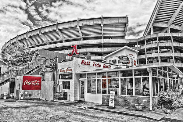 Selective Color Poster featuring the photograph Shadow Of The Stadium by Scott Pellegrin