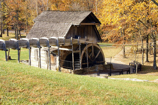 Photographs Poster featuring the photograph Grist Mill 2 by Franklin Conour