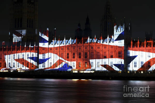 Union Jack Poster featuring the photograph Union Jack by John Rizzuto