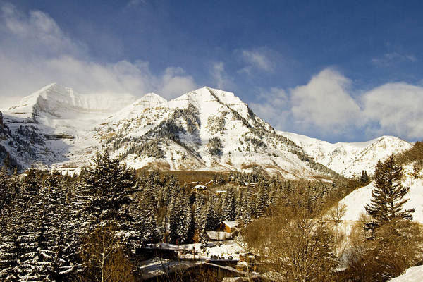Mountain Poster featuring the photograph Mount Timpanogos by Scott Pellegrin