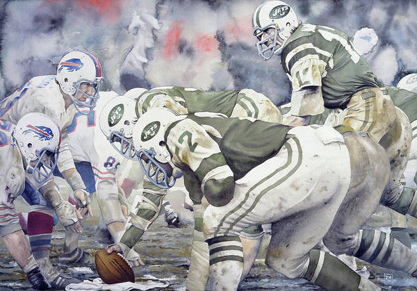 Joe Namath Poster featuring the painting Namath by Rich Marks