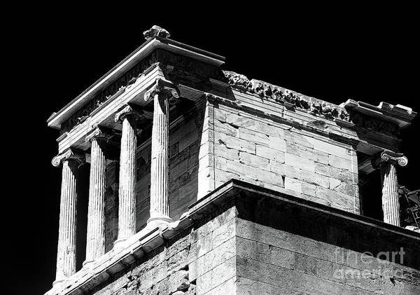 Temple Of Athena Nike Poster featuring the photograph Temple Of Athena Nike by John Rizzuto