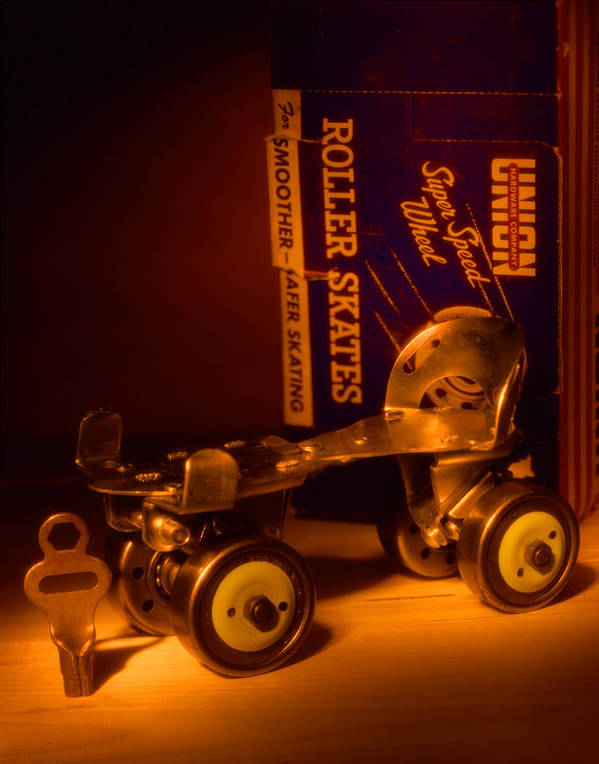 Roller Skates Poster featuring the photograph Vintage Roller Skates by Jerry Taliaferro