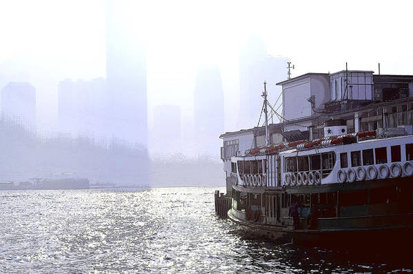 Mist Poster featuring the photograph Mist Over Victoria Harbour by Enrique Rueda