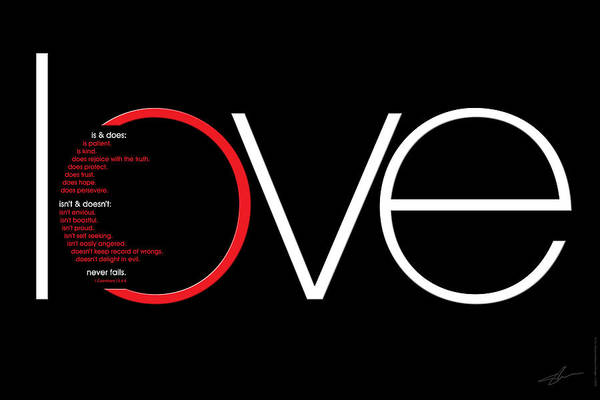 Love Poster featuring the digital art Love Is And Does by Shevon Johnson