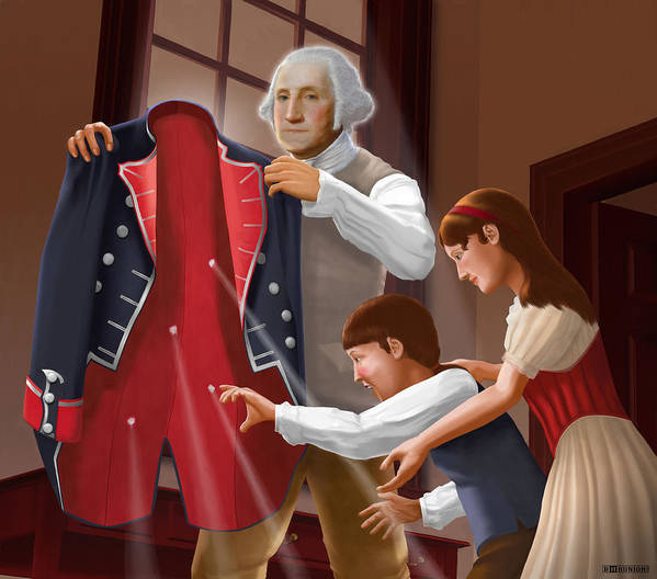 American Poster featuring the painting Have You Forgotten Providence by Brett H Runion
