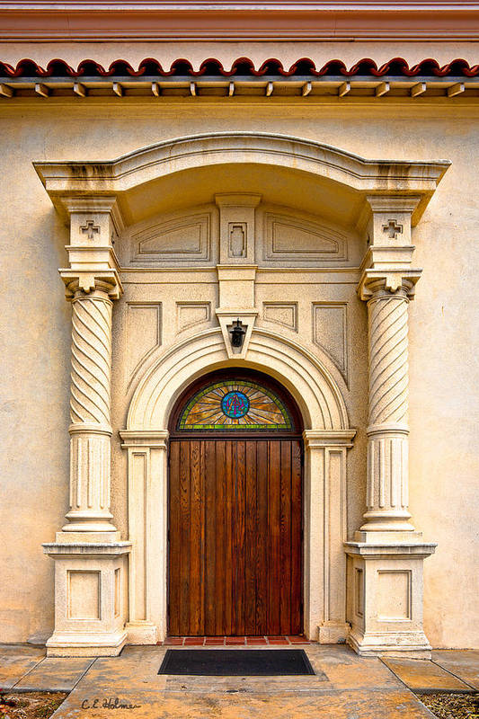 Catholic Church Of The Immaculate Conception Poster featuring the photograph Ornate Entrance by Christopher Holmes
