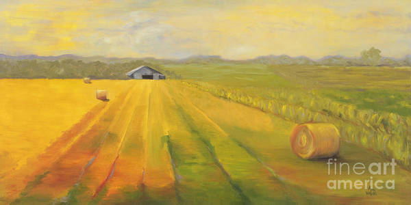 Landscape Poster featuring the painting Second Cutting by Amy Welborn