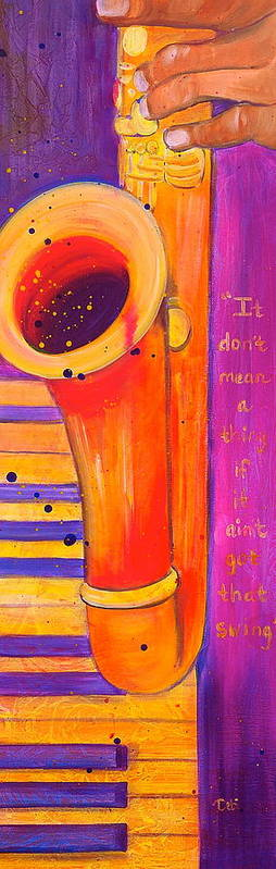 Jazz Poster featuring the painting It Don't Mean A Thing by Debi Starr