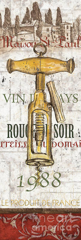 Wine Poster featuring the painting Bordeaux Blanc 1 by Debbie DeWitt