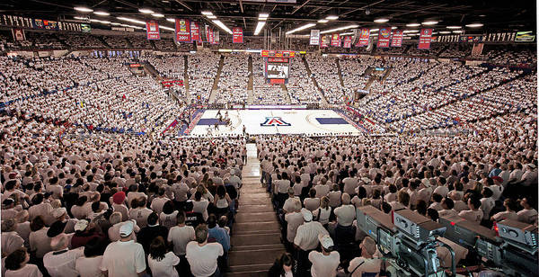 University Of Arizona Poster featuring the photograph Arizona Wildcats White Out At Mckale Center by Replay Photos