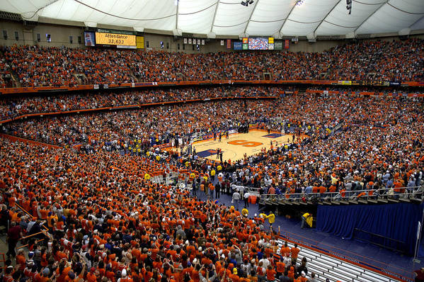 Syracuse Poster featuring the photograph Syracuse Orange Carrier Dome by Replay Photos