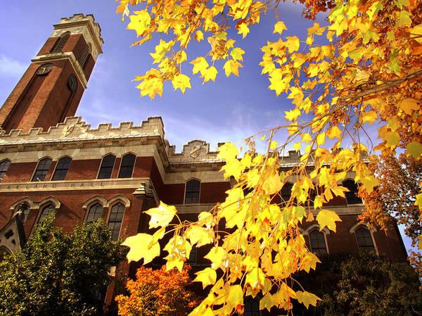 Vanderbilt Poster featuring the photograph Vanderbilt Kirkland Hall In The Fall by Vanderbilt University
