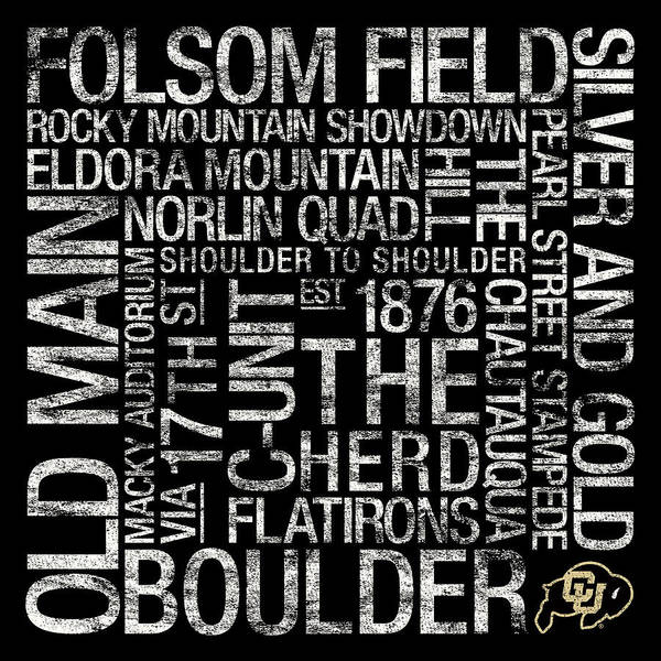 Photo Poster featuring the photograph Colorado College Colors Subway Art by Replay Photos