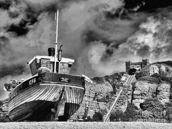 Funicular Railway Hastings Poster featuring the photograph High And Dry 2 by Graham Taylor