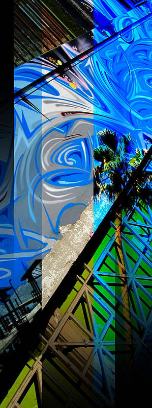 Merged Poster featuring the photograph Merged - Painted Blues by Jon Berry OsoPorto