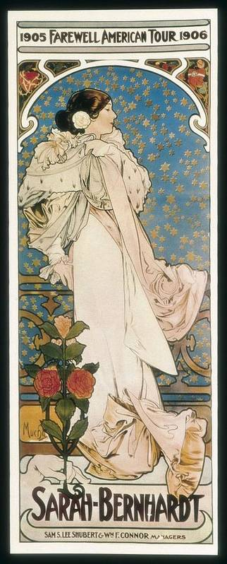 Vertical Poster featuring the photograph Mucha, Alphonse Maria 1860-1939 by Everett